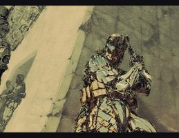 MGS4_old snake by scabrouspencil