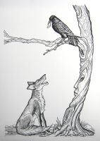 The Fox and the Crow by HouseofChabrier