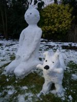 Snow Tintin and Snowy! by gothic-egg