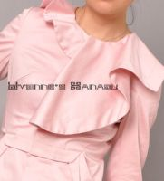 Pink Cotton Ruffles Coat 11 by yystudio