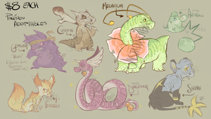 Pokemon Adoptables 3 ($8 each) All Gone! by Unstadoptables