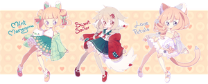 [Closed] ADOPT AUCTION - Heartdolls by MiiaChuu