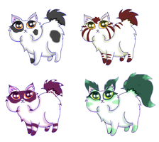Funy cat adoptables american longhair bobtails by KingZoidLord
