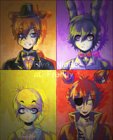 FNAF - The Animatronics by StarTheYoshi