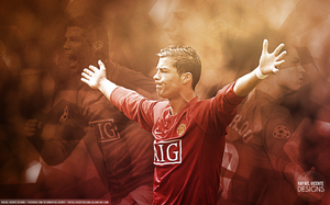 NEVER FORGET l CR7 MAN UNITED WALLPAPER by RafaelVicenteDesigns