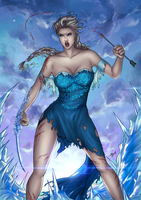 Frozen - Queen Elsa (Berserker version) by eHillustrations