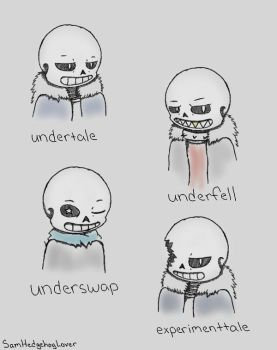 Sans And Friends (sketch) by SamHedgehogLover
