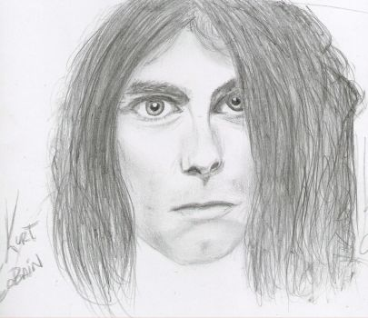 Kurt Cobain drawing I by Roohdarkmetalsuicide