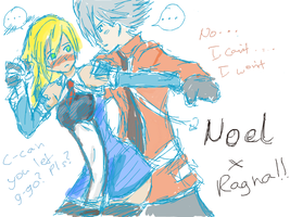 Noel and Ragna moment by PandaDude17