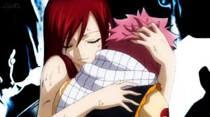 Natsu and Erza by LadyNoa