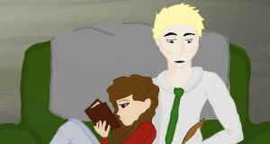 Draco and Hermione Studying by AnnabelleB94