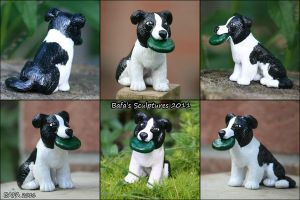 Sculpture -Border Collie by Bafa