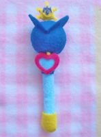 Sailor Uranus Plush Custom Henshin Wand by aleena