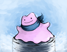 Eccentric-Choice Scarf Ditto by nintendo-jr