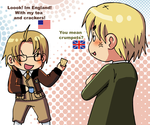 America and England by VooDooDollMaster