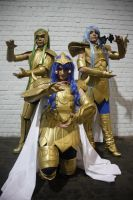 Scorpio, Acuarius and Pisces Gold Saints by Sana-Kuja-cosplay