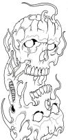 Skullz Outline 09 by vikingtattoo