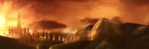 Hyrule Matte Painting by 89ravenclaw