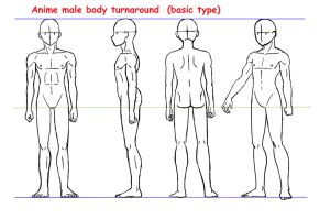 Anime male body turnaround by Yumezaka