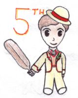 fifth doctor chibi - Cricket by loonylovegood93