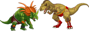 StyracoBlanka vs TyranoZangief by Real-Warner
