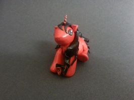 Red and Black Flower Unicorn by WolvesnRavens