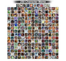 250 Favorite Characters by DolphinMoana