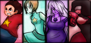 Steven Universe - We are the crystal gems by Masteryeah037