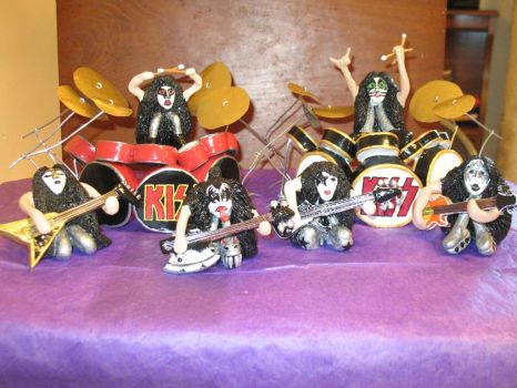 Kiss Rock Mini's Complete Set by djdeezigns