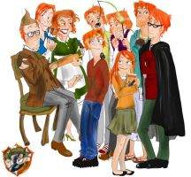 The Weasleys by sofish