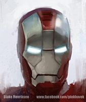 Iron Man Study by pinkhavok