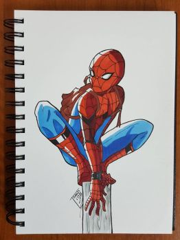 Day 208 Spider man by TomatoStyles