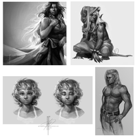 Sketches and Underpaintings by Moesie