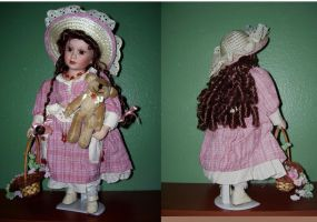 Pinky a porcelain doll by Rachelevans1013