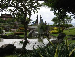 Bali Cliff Hotel's Garden by evan-p