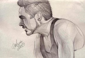 Tony Stark sketch by DafnaWinchester