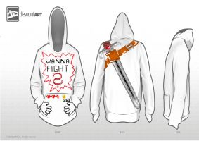 8 Bit Hoodie - Wanna Fight? by CreoPro