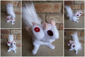 Two Headed Albino Squirrel by IckyDog