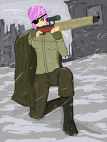 human Silver Storm/Hired Gun in WW2 by glue123