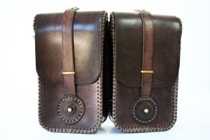 Steampunk leather twin pouch 1 by AmbassadorMann