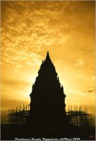 Sunset at Prambanan Temple by neoxavier