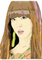 f(x) Sulli Digital Painting by hadyzero