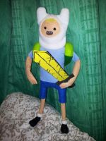 Finn The Human doll finished version with sword 1 by CannibalCupcakes