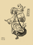 Old japanese style Kenshin by GaussianCat