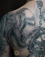 Venom healed back in prg. by 2Face-Tattoo