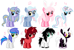 filly and colt adopts CLOSED by SugarMoonPonyArtist