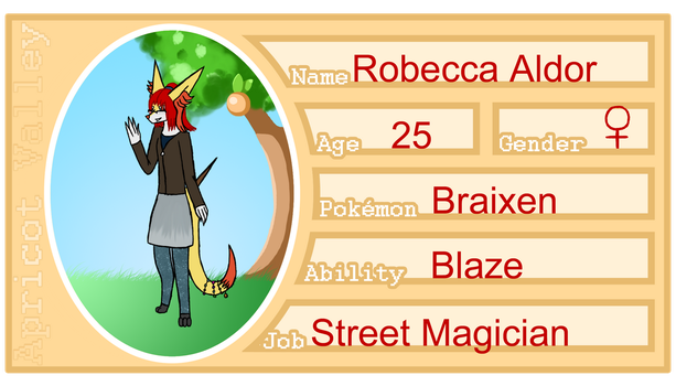 Apricot Valley application-Robecca Aldor by RPCatgirl