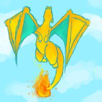 Charizad and the sky by Skurfiez
