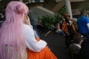 Gazing at Ohayocon by xCaptainxNemox