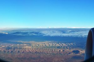 Atlas Mountains seen through a plane window by LoveSexAndDrugs